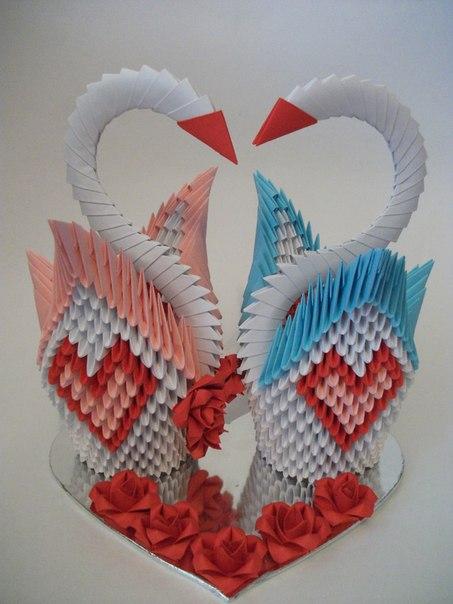 из модулей оригами схема
