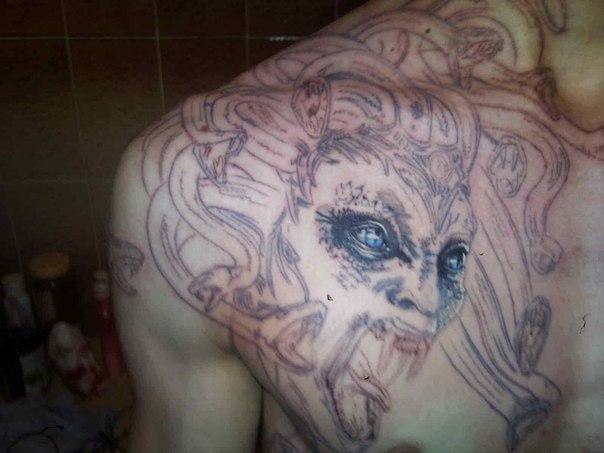 Как сделать контур для тату