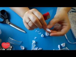Свадебный Браслет Канзаши вместе с каналом Красивые Ногти by Alina Bykova