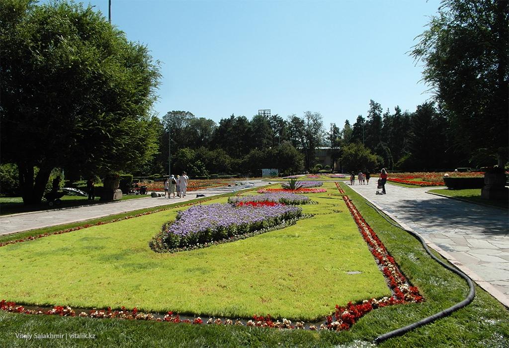 Цветочная аллея, Центральный Парк Горького, Алматы