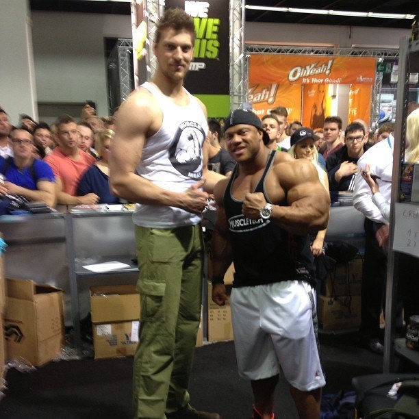 Pic Of Phil With Some Really Tall Dude Bodybuilding Com