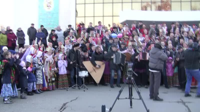Съёмка Играй гармонь в Липецке