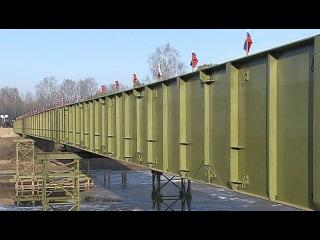 Вести.Ru: Военные построили и передали Смоленской области временный мост в Велиже