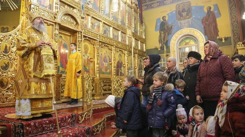 Проповедь митр. Арсения в Николаевском соборе г.Мариуполя