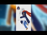 [SpeedPaint] Frisk and humanization Sans. RestartsTale/No More Restarts/NMR. [by Lucky Kano]