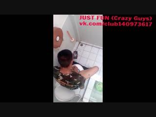 Wankin stud in toilet spy indonesia wanker caught член хуй дроч cock penis wank jerk public