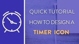 DAY 7 : How To Design A Timer Icon in Illustrator | Icon Design Week
