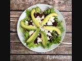 Салатик с руколой и шпинатом