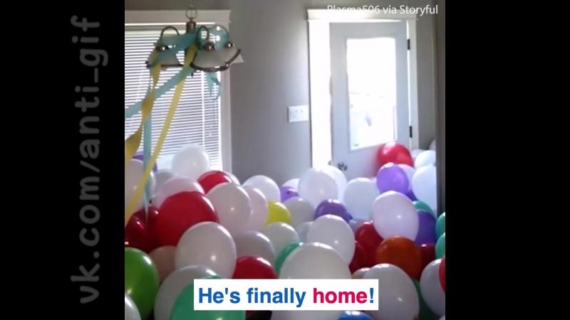 пранк с 3000 воздушных шариков