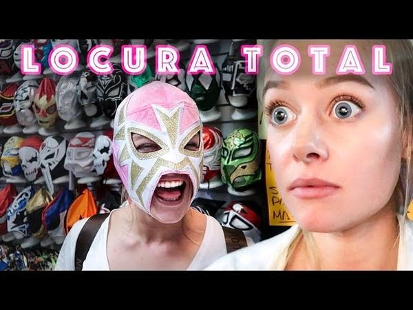 Francesa experimenta la lucha libre en Mexico !!