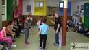 Atelier Brain Ball Ecole Chambard 4 balles 4 personnes devant derrière