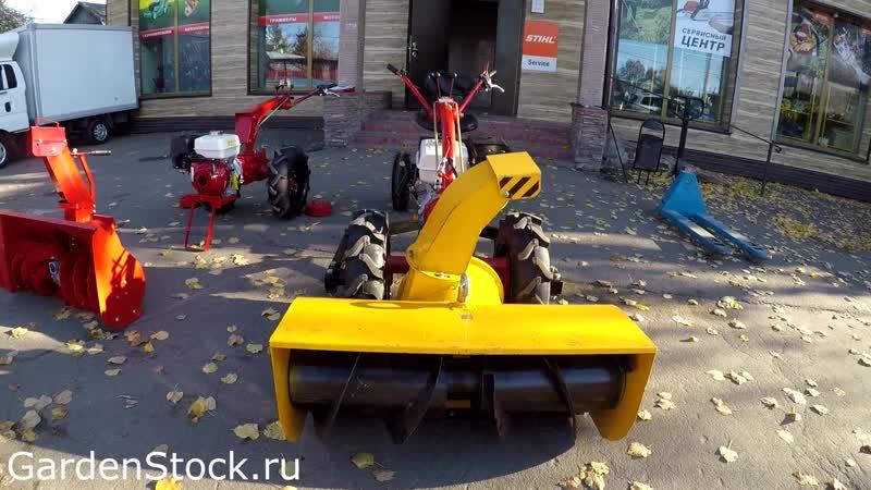 Мотоблок МТЗ Беларус зимой.
