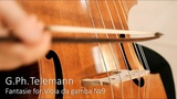 G.Ph. Telemann - Fantasie for Viola da gamba №9 С-dur (1735). Pavel Serbin