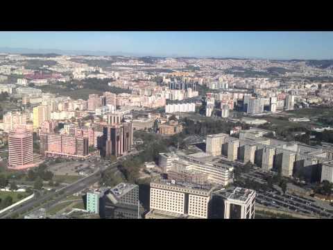 Лиссабон (Португалия) с высоты птичьего полета