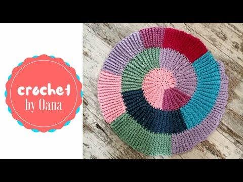 Crochet spiral blanket by Oana