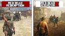 Red Dead Redemption 2 VS Red Dead Redemption | 4K Early Gameplay Comparison