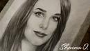 Портрет красивой девушки карандашом. Ускоренный процесс. SpeedArt. Beautiful grafite portrait