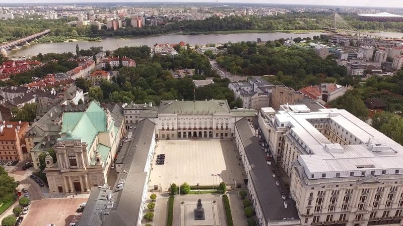 Pałac Prezydencki z lotu ptaka