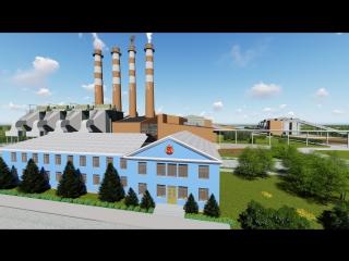 Коркинский цементный завод в 3D