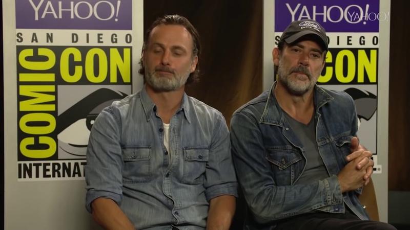 The Walking Dead Season 7 Andrew Lincoln Jeffrey Dean Morgan Yahoo Interview Comic Con 2016