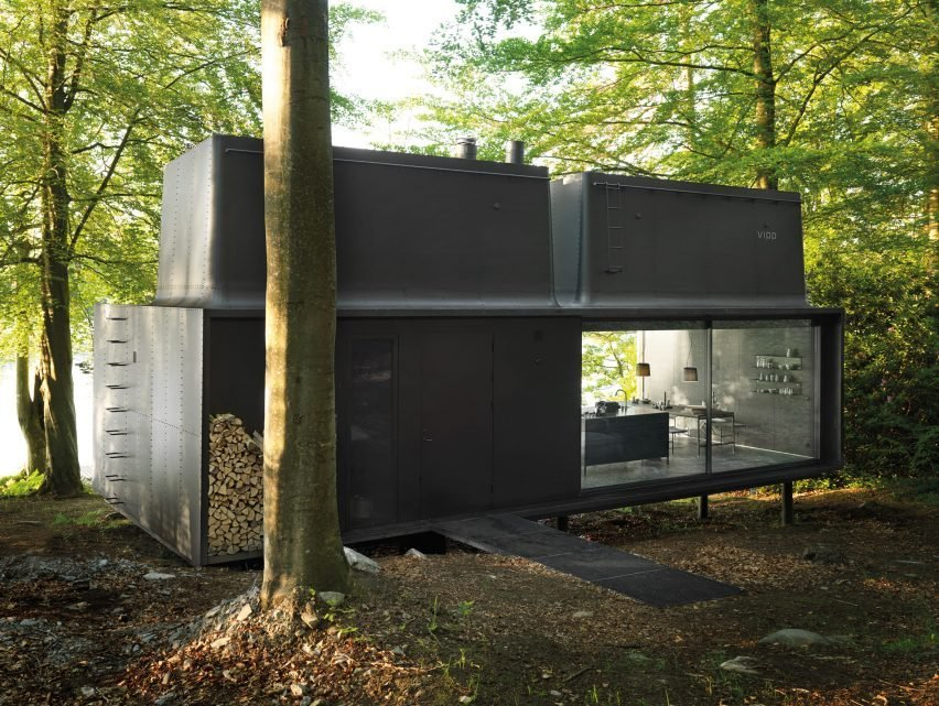 """NoRQJmt0PLs - Vipp prefabricated cabins designed as """"battery-charging stations for humans"""""""