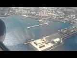 Остров Fuerteventura. На взлете. Пролетая над пляжем и набережной Puerto del Rosario.
