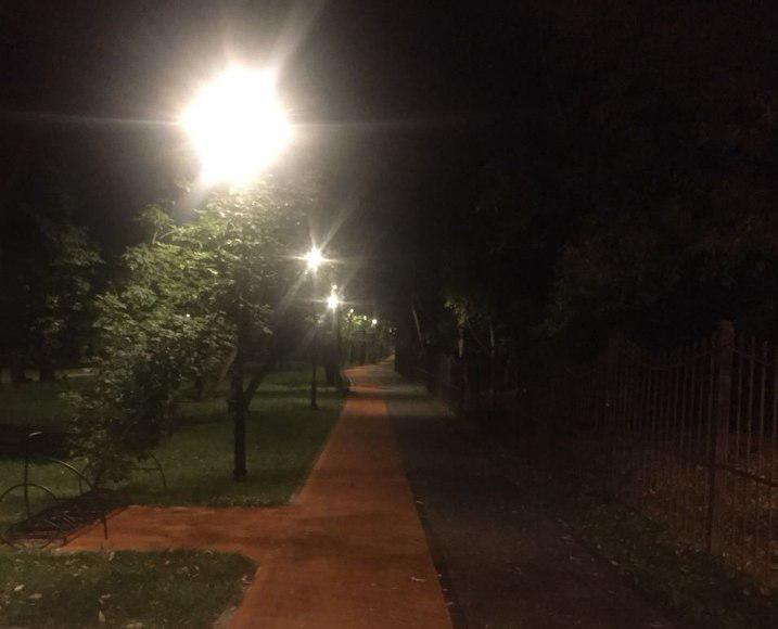 Освещение восстановили в парке «Грачевка»