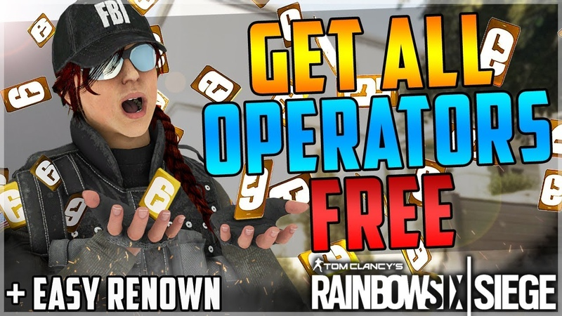UNLOCK ALL OPERATORS FOR FREE GLITCH THE BEST WAY TO GET RENOWN - (Rainbow Six Siege) AFTER PATCH