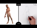 Proko Figure drawing fundamentals - 01 Gesture - Gesture Quicksketch - 2 Minute Pose (11)