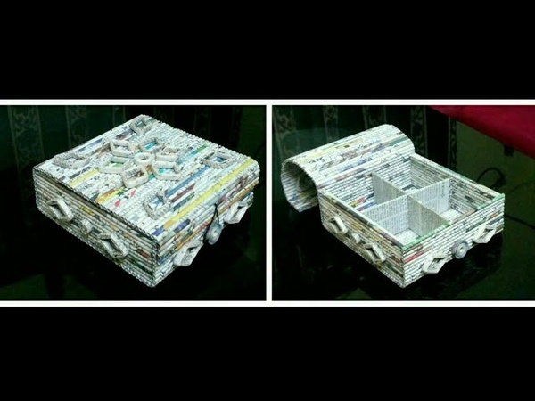 How to make a Newspaper Storage Box / Basket