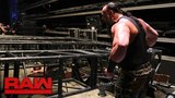 Braun Strowman pulls part of the Raw set down on top of Kane and Brock Lesnar Raw, Jan. 8, 2018
