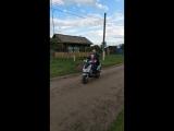 А мы с Алисой на дедовом скутере