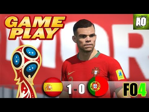FIFA ONLINE 4 - SPAIN AT RUSSIA 2018 - GROUP STAGE!! [Legendary With Sliders] - Spain Vs Portugal .