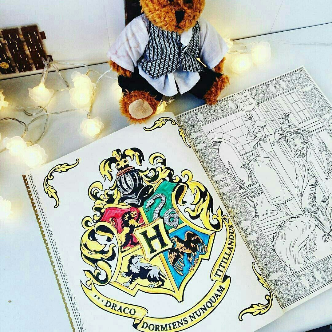 Антистресс раскраски по мотивам Гарри Поттера