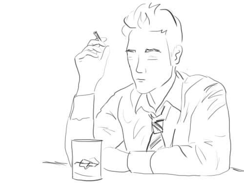 Как рисовать курящего мужчину