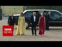 Trump arrives at Blenheim Palace - BBC News