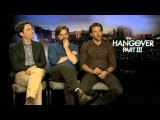 Interview with Bradley Cooper, Zach Galifianakis & Ed Helms