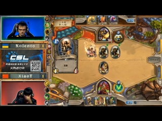 [Hearthstone tournaments] Hearthstone Gold CN vs EU QuarterFINAL: Kolento vs xiaOt 10/01/2018