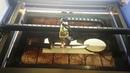 Гравировка нержавейки на китайском лазерном станке СО2 80 вт без пасты