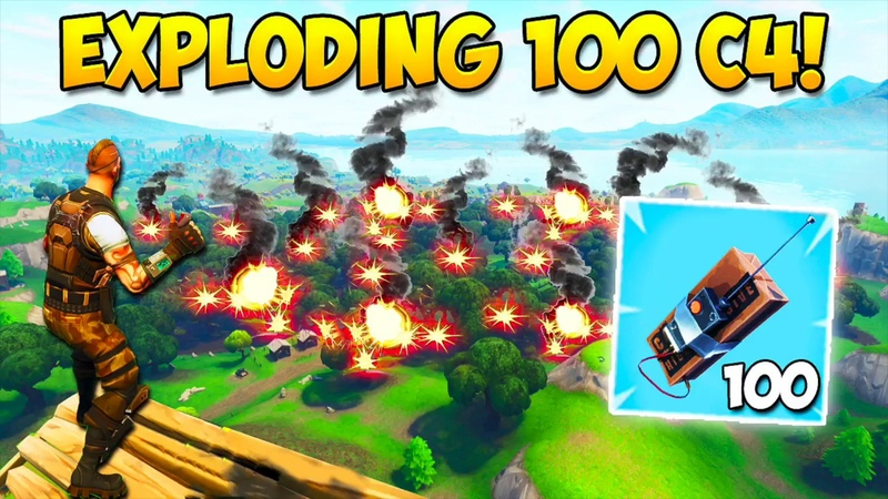 EXPLODING 100 C4! - What Happens? - Fortnite Funny Fails and WTF Moments! 222 (Daily Moments)