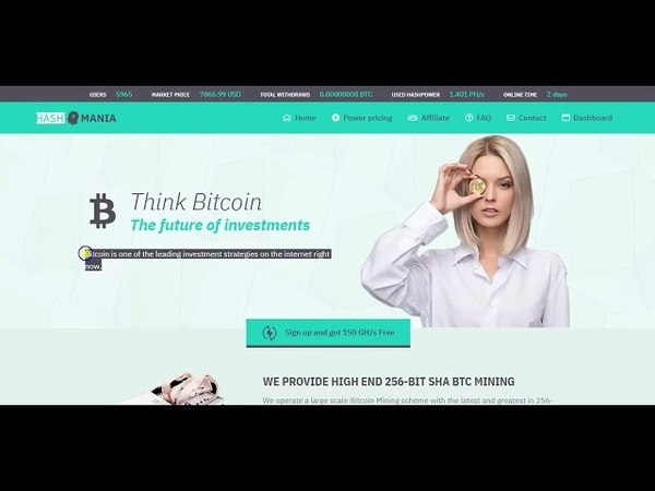 Free Earn Bitcoin With Hash Power 160 GH/s No Invest Daily Profit 8%
