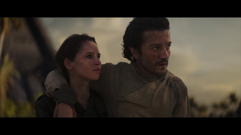 Rogue One A Star Wars Story Destruction of Scarif and death of Jyn Erso Cassian Andor [1080p HD]