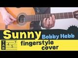 SUNNY Fingerstyle Guitar Cover Tutorial Lesson Tabs Bobby Hebb - Boney M.