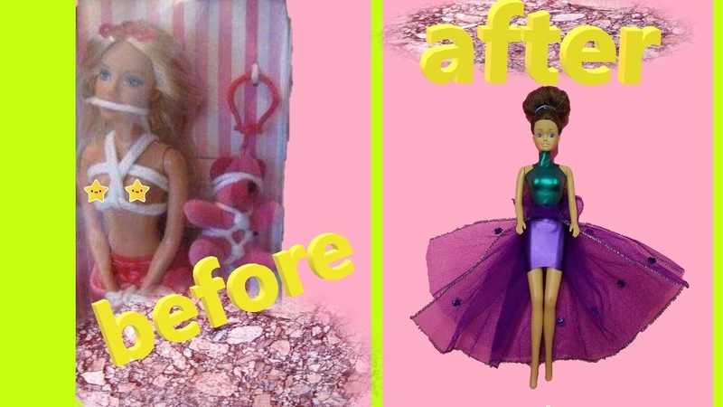 DIY Barbie Dresses with Balloons Making Easy No Sew Clothes for Barbies Creative for Kids 2 Devlin
