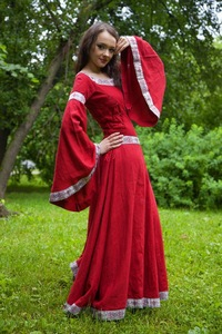 платья славянские фото