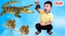Trò Chơi Đập Con Chuột Nuôi Cá Sấu Đồ Chơi ♥ Min Min TV Minh Khoa