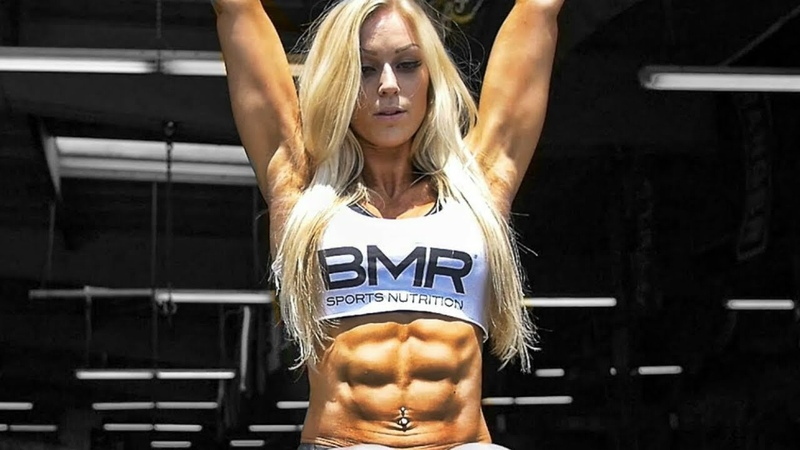 BEST OF GIRLS WITH ABS | Workout Posing Flexing - PART 2