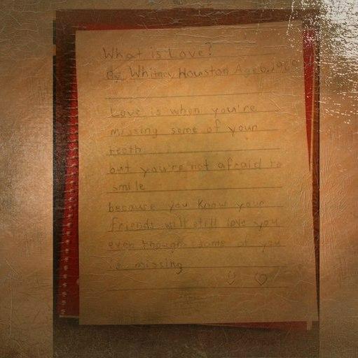 Фото записи о любви. Уитни Хьюстон, 6 лет. 1969 год.