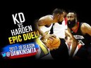James Harden vs Kevin Durant EPiC Duel 2018 WCF GM1 - Harden With 41 Pts, KD With 37! | FreeDawkins