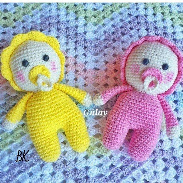 Кукла пупс вязаная крючком